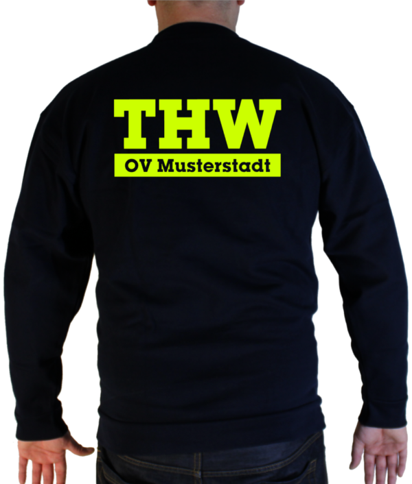 Pullover THW simple mit Ortsverband