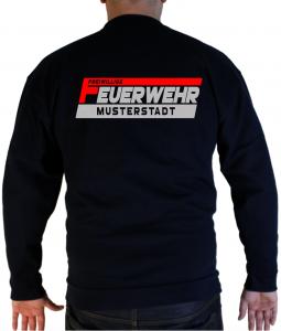 Pullover Freiwillige Feuerwehr zweifabrig ro/silberreflex mit Ortsname
