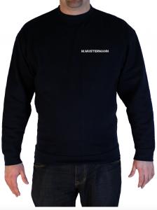 Pullover Freiwillige Feuerwehr Brustdruck Name in Silberrelfex