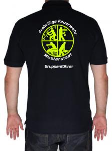 T-Shirt Freiwillige Feuerwehr mit großem Signet und Ortsname
