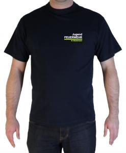 T-Shirt Brust Jugendfeuerwehr zweifarbig 112 mit Ortsname