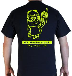 T-Shirt THW Minion Zugtrupp mit Ortsverband