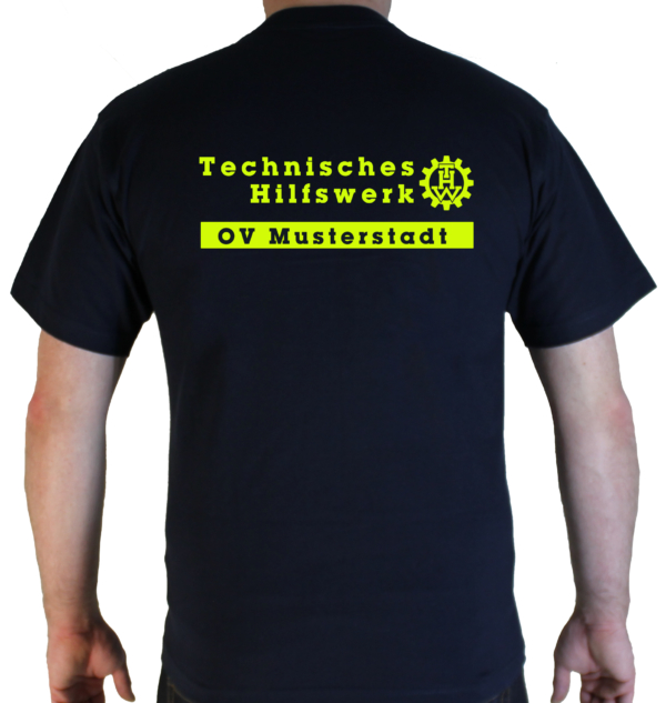 T-Shirt Technisches Hilfswerkt mit Zahnrad und Ortsverband