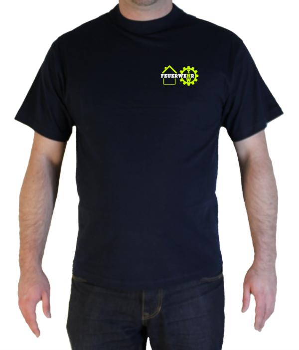 T-Shirt Stay Home Stay Safe Feuerwehr und THW vorne