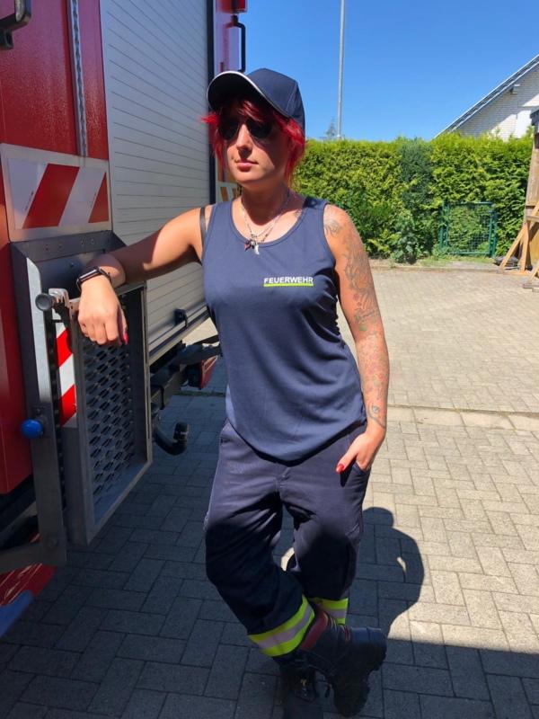 Tanktop - Feuerwehr mit Name vorne
