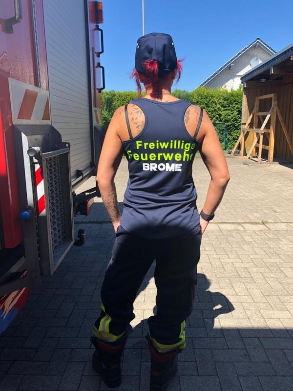 Tanktop Freiwillige Feuerwehr mit Ortsname
