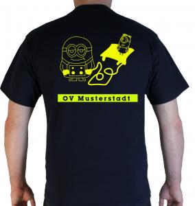 T-Shirt THW Minion Hebekissen mit Ortsverband
