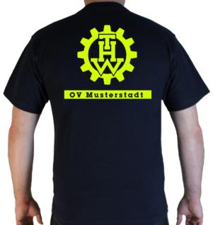 T-Shirt THW Zahnrad mit Ortsverband
