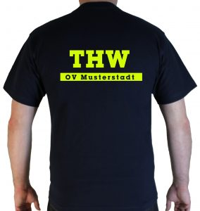 T-Shirt THW simple mit Ortsverband