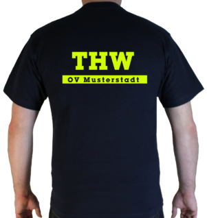 T-Shirt THW simple mit Ortsverband