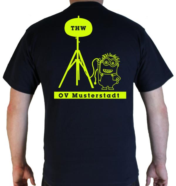 T-Shirt THW Minion Powermoon mit Ortsverband