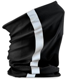 Morf schwarz mit Reflexstreifen