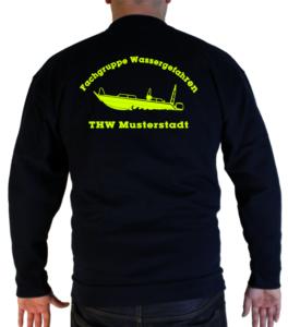 Pullover THW Fachgruppe Räumen - Finjet neongelb