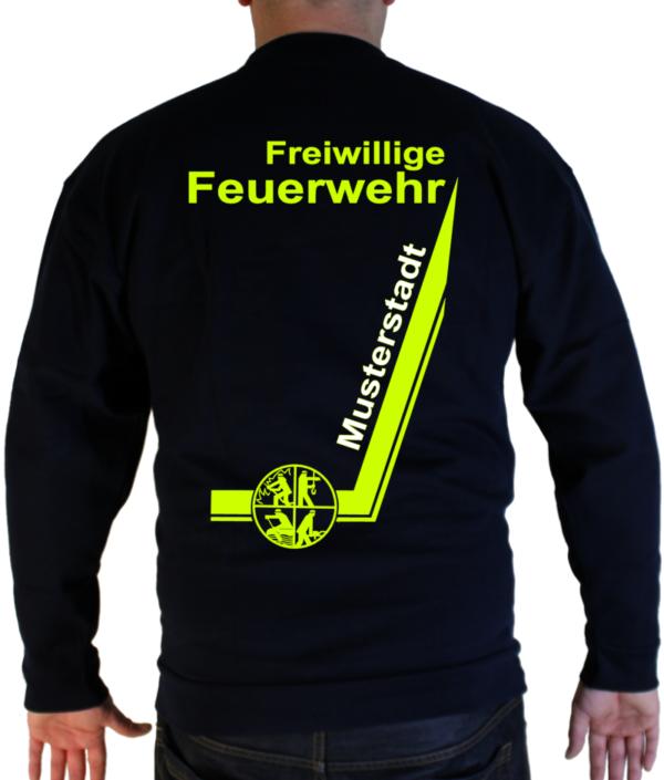 Pullover Freiwillige Feuerwehr mit Signet und Ortsname zweifarbig - Desing