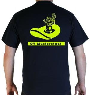 T-Shirt Schlauchboot Minion THW mit Ortsverband