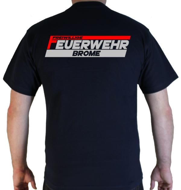 T-Shirt Freiwillige Feuerwehr mit Ortsname zweifarbig