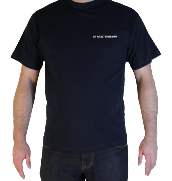 T-Shirt Freiwillige Feuerwehr mit Ortsname silberreflex Name auf der Brust