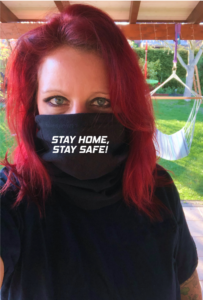 Morf Navy mit Stay Home Stay Safe in weiß