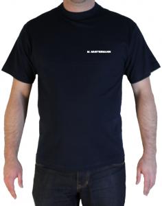 T-Shirt Feuerwehr Brust mit Aufdruck Name in weiß