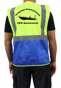 Warnweste THW Fachgruppe Wassergefahren Finjet
