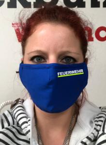 Maske - Royalblau Feuerwehr zweifarbig