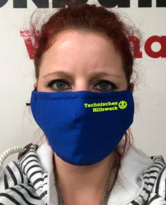 Maske - Royalblau Technisches Hilfswerk