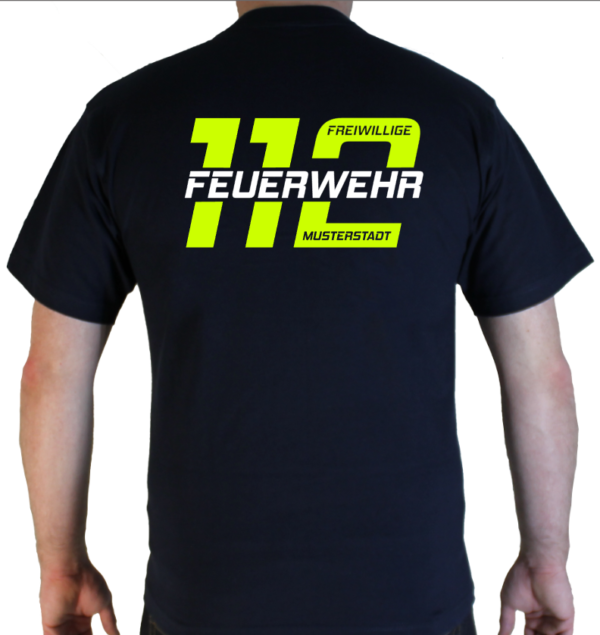 T-Shirt Feuerwehr 112 mit Ortsname