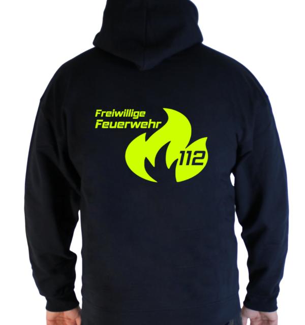 Kapuzenpullover Flamme Groß mit FFW