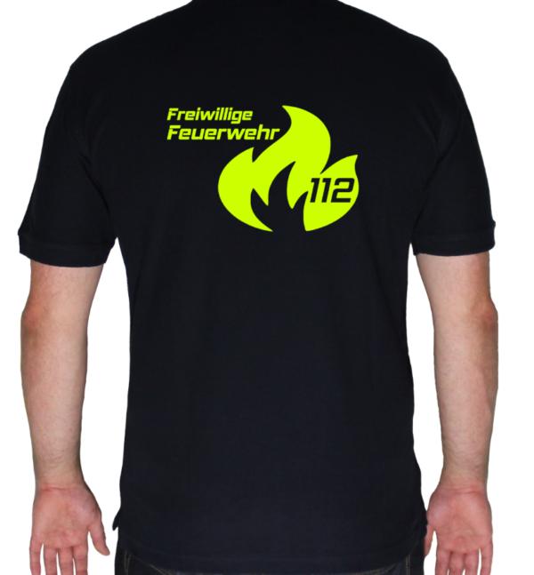Poloshirt Flamme Groß mit FFW