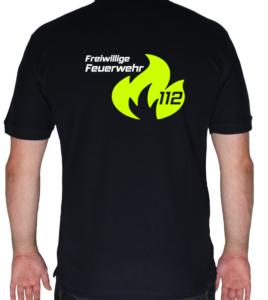 Poloshirt Flamme Groß mit weißer FFW