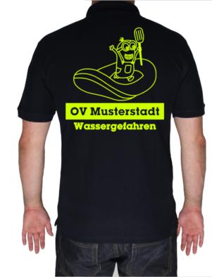 Poloshirt THW Minion mit Schlauchboot