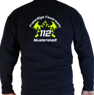 Pullover 112 mit FW, Flamme und Axtdesign