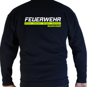 Pullover Feuerwehr Retten-Löschen-Bergen-Schützen mit Ortswehr