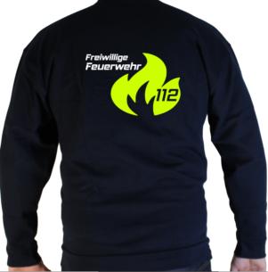 Pullover Flamme Groß mit weißer FFW
