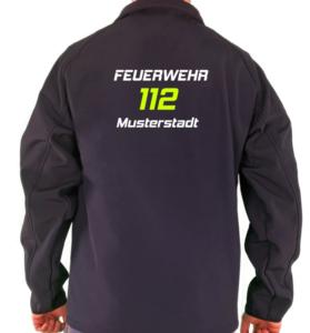 Softshelljacke Feuerwehr Design 112