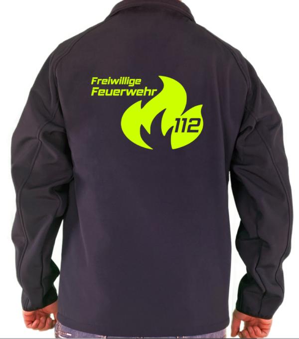 Softshelljacke Flamme Groß mit FFW